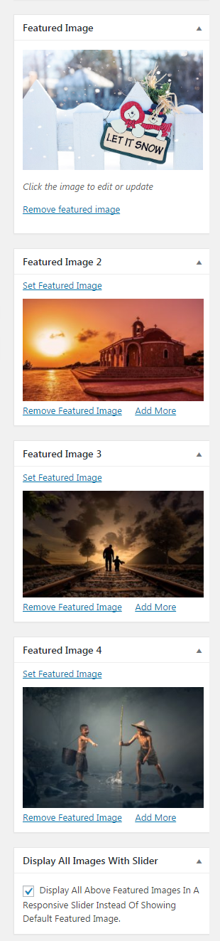 Multiple Featured Images