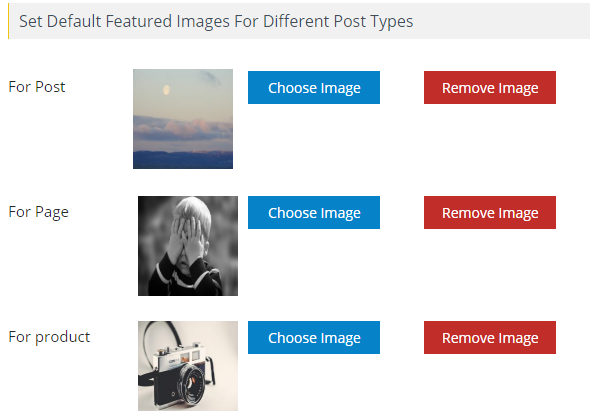 Default Featured Image for Post