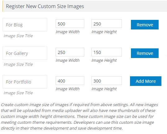 Register Custom Size Image