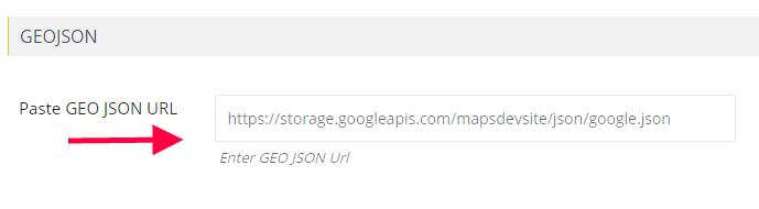 Insert GEO JSON URL Wpmapspro