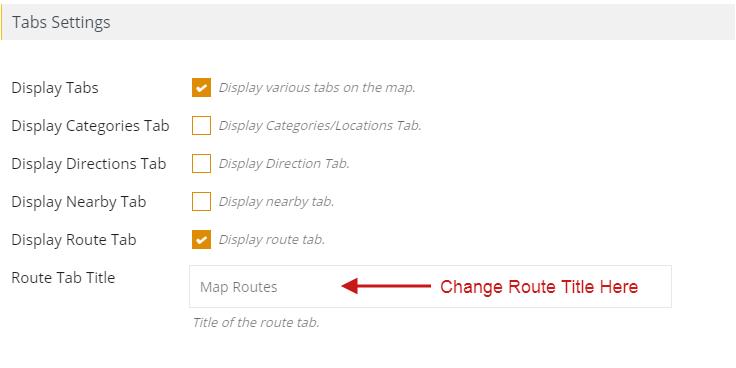 Change Route Title WP Maps Pro