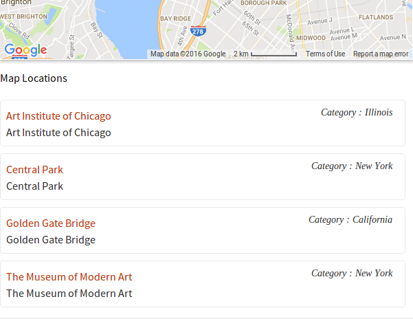 Listing Map Wp google maps pro