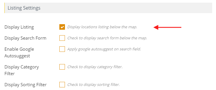 Listing Below Map