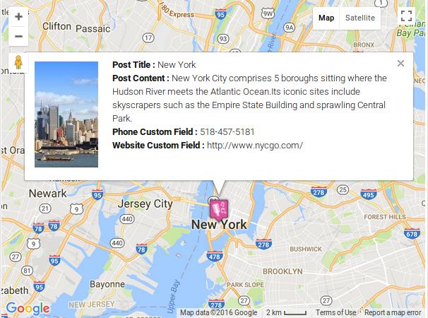 How to show post info window using custom field Wpmapspro