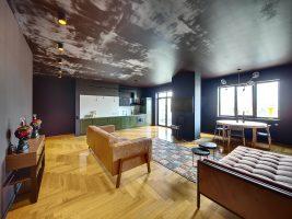 room with vinyl floors