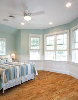bedroom wth hardwood flooring