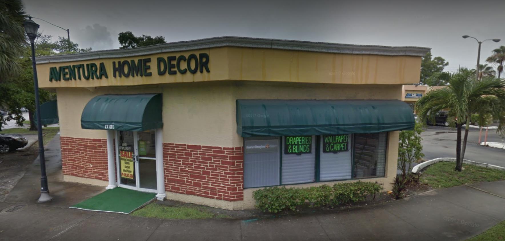 Aventura Home Decor store front