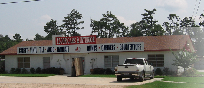 Floor Care & Interior store front