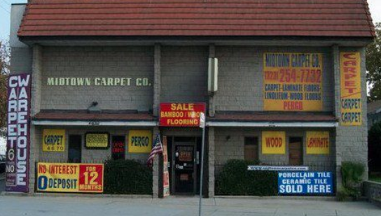Midtown Carpet Company store front