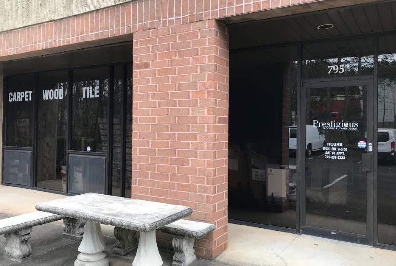 Prestigious Flooring and Design store front