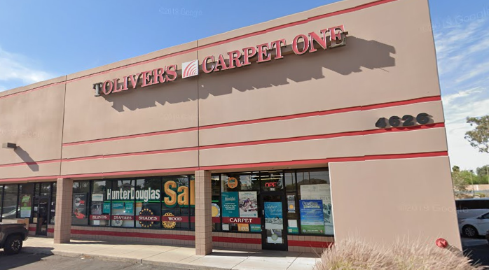 Toliver's Carpet One store front