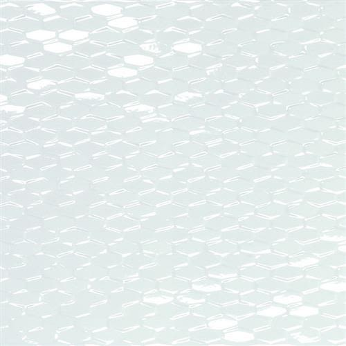 "Swatch for White Mini Hexagon 12""x35"" flooring product"