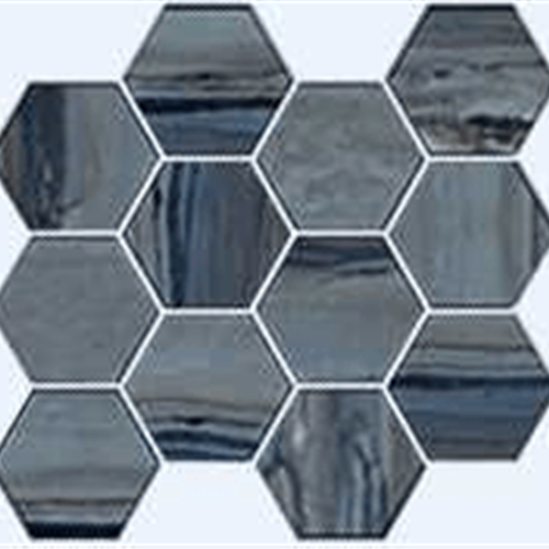 Swatch for Lagoon Polished   Hexagon flooring product