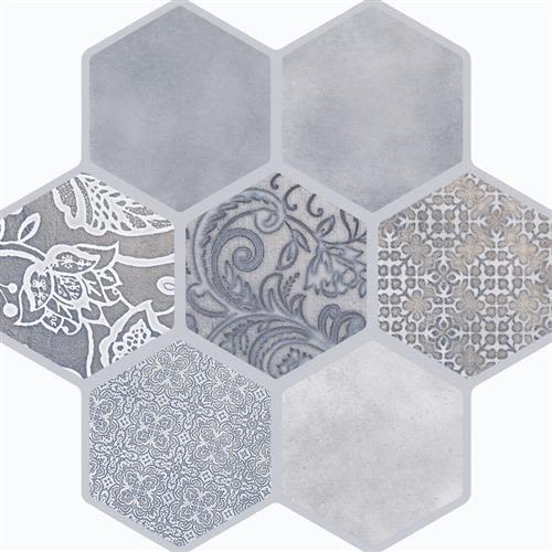 """Swatch for Virtue Gray 18""""x18"""" flooring product"""