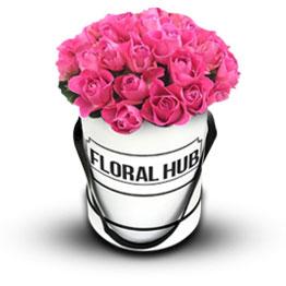 24 Pink Roses Box