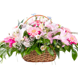 Mix Flowers Basket