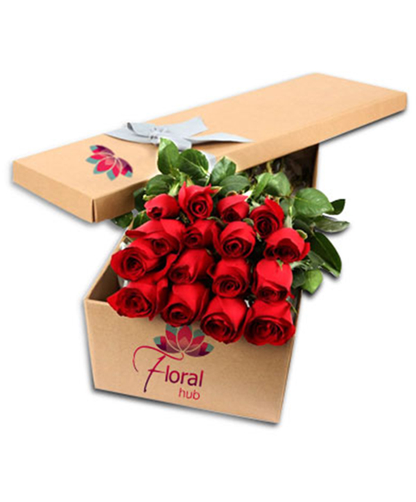 12 Red Roses Box