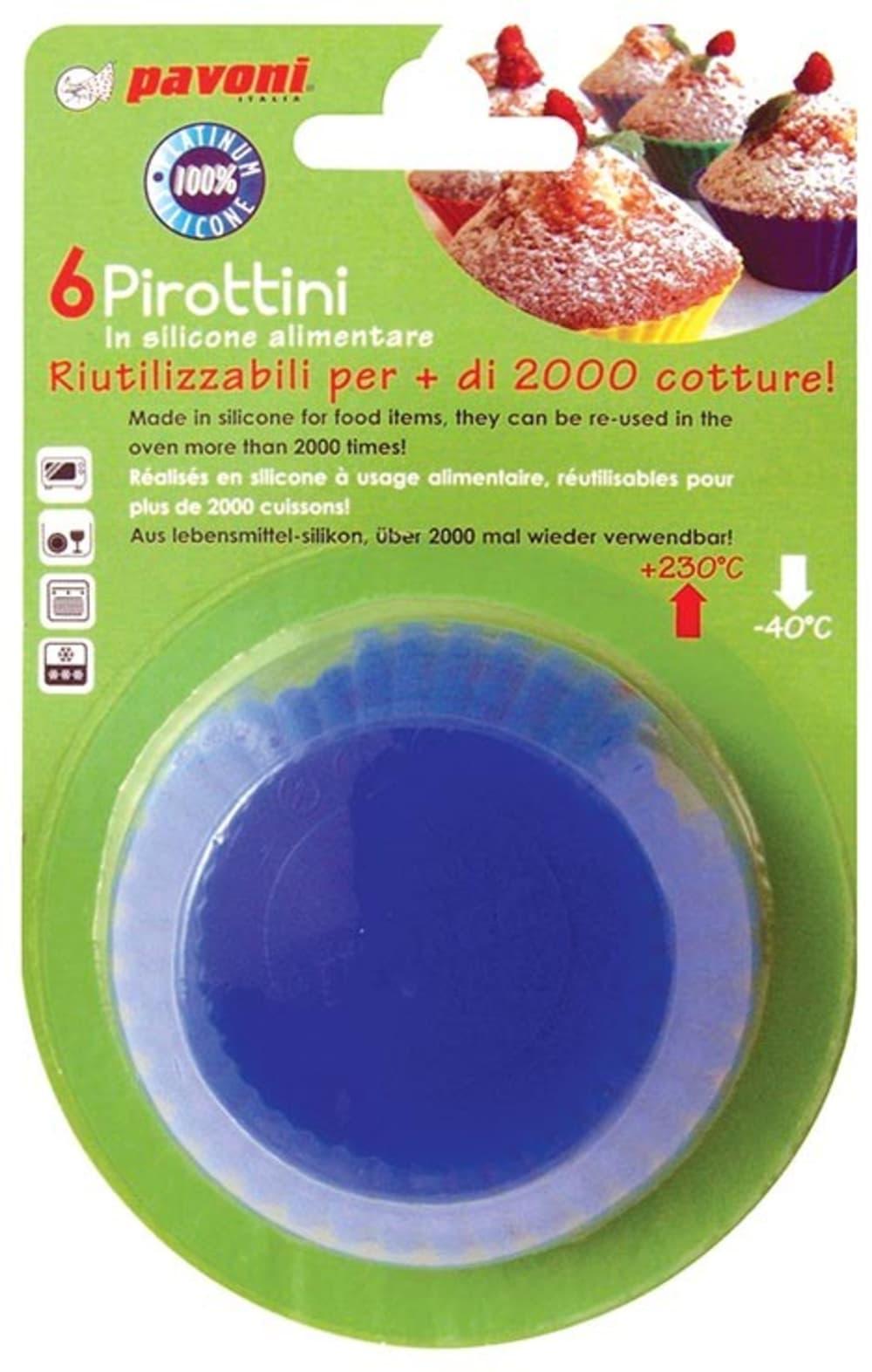 Foremki na muffinki okrągłe x6 PAVONI