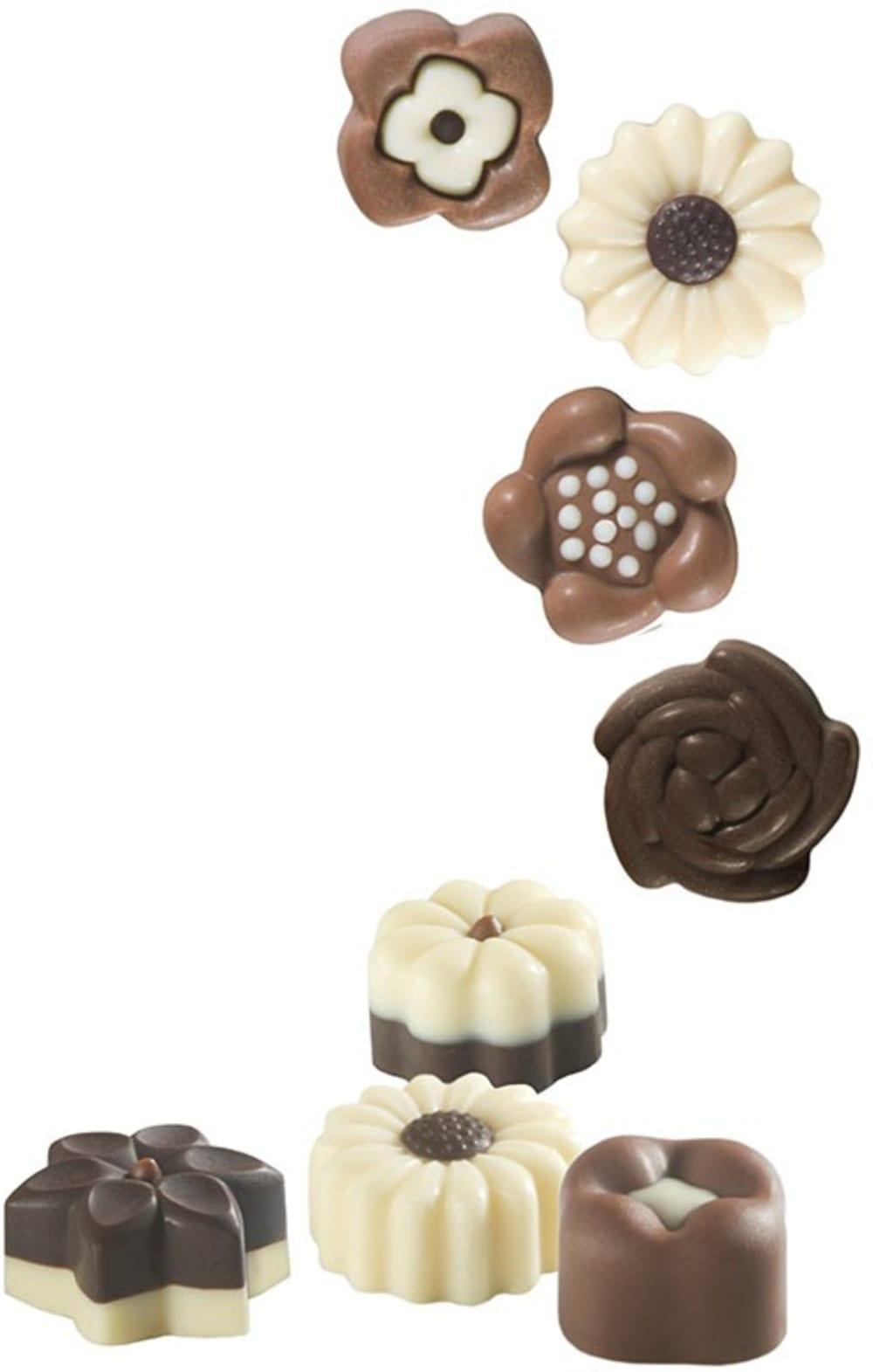 Forma na czekoladowe pralinki KWIATKI x14