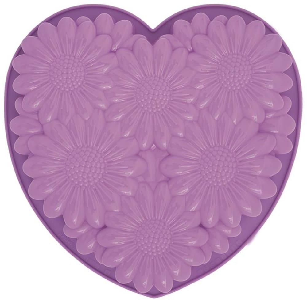 PAV-Forma do ciast/galaretek BOUQUET HEART, fiolet