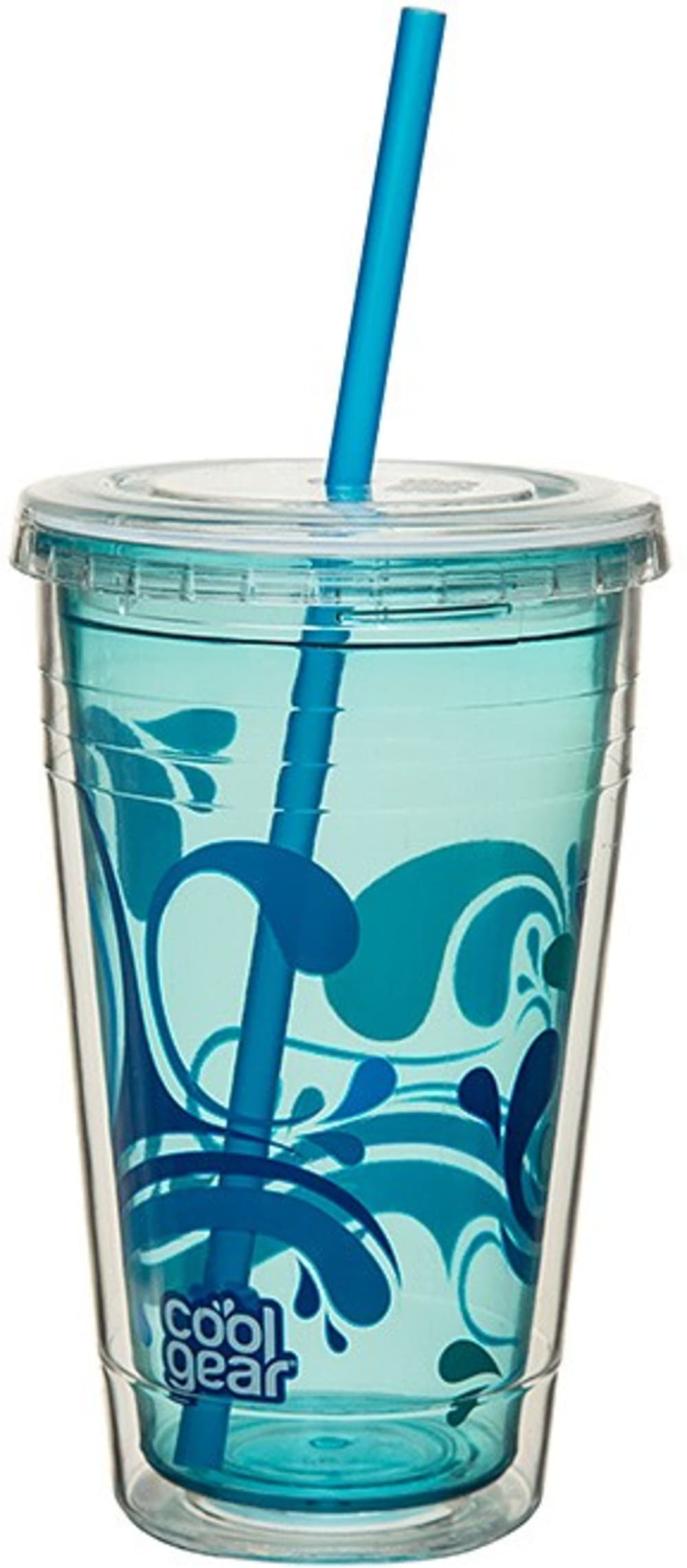 CG - Chiller + słomka, niebieski z motywem, duży