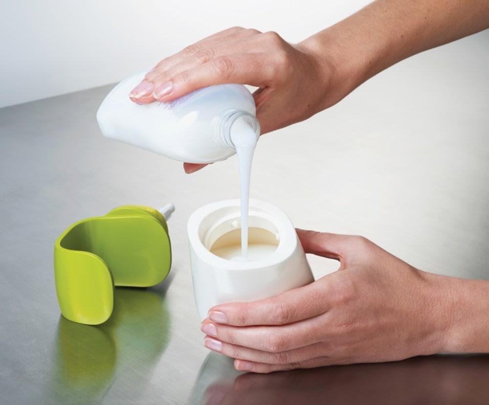 Dozownik na mydło C-pump, biało -zielony Joseph Joseph