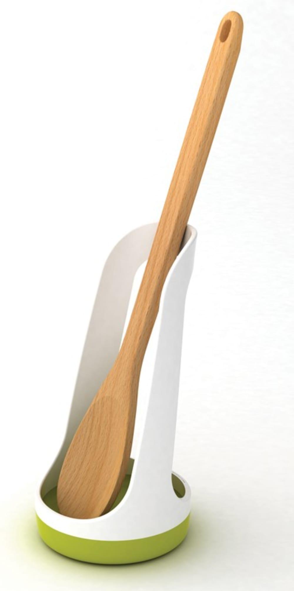 Podstawka na łyżkę SPOONBASE biało-zielona JOSEPH JOSEPH
