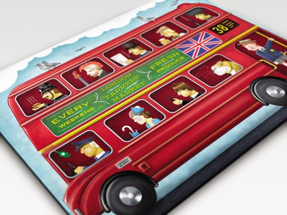 Podkładka prostokątna LONDON BUS 30 x 40 JOSEPH
