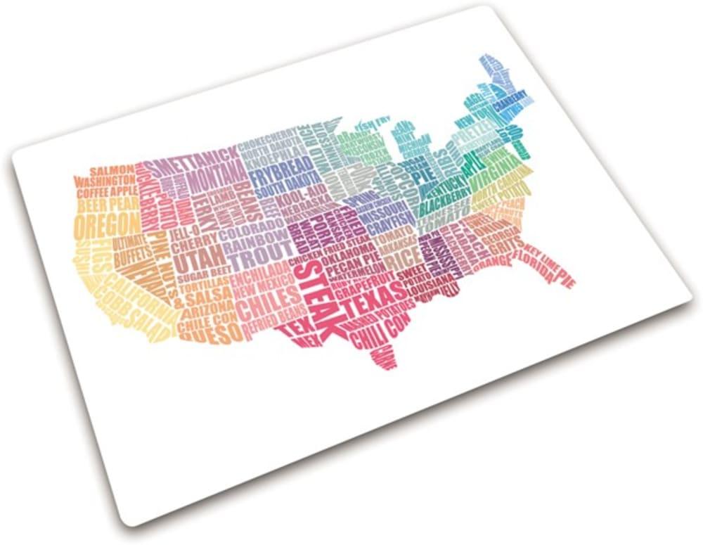 Podkładka ze szkła hartowanego USA 40 x 30