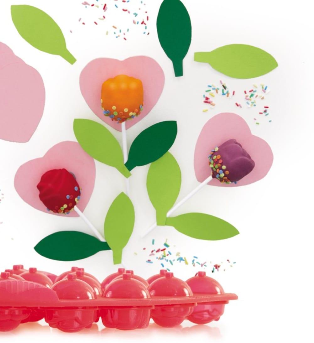 PAVONIDEA Forma do lizaków z ciasta SWEETPOPS kwiatki
