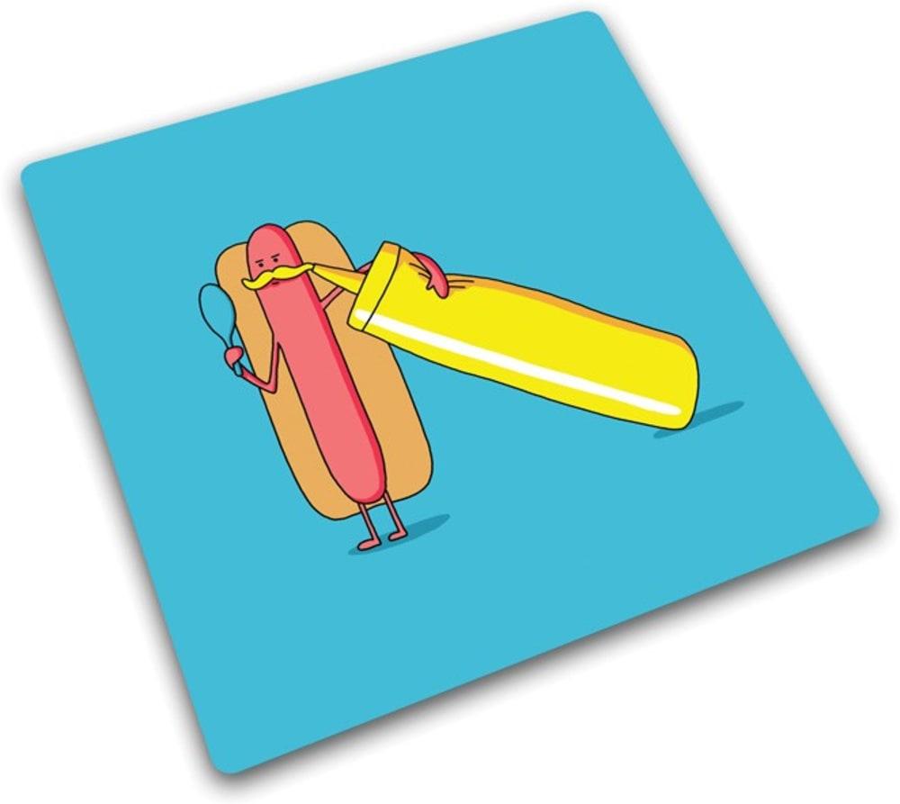 Podkładka ze szkła hartowanego HOT DOG 30 x 30