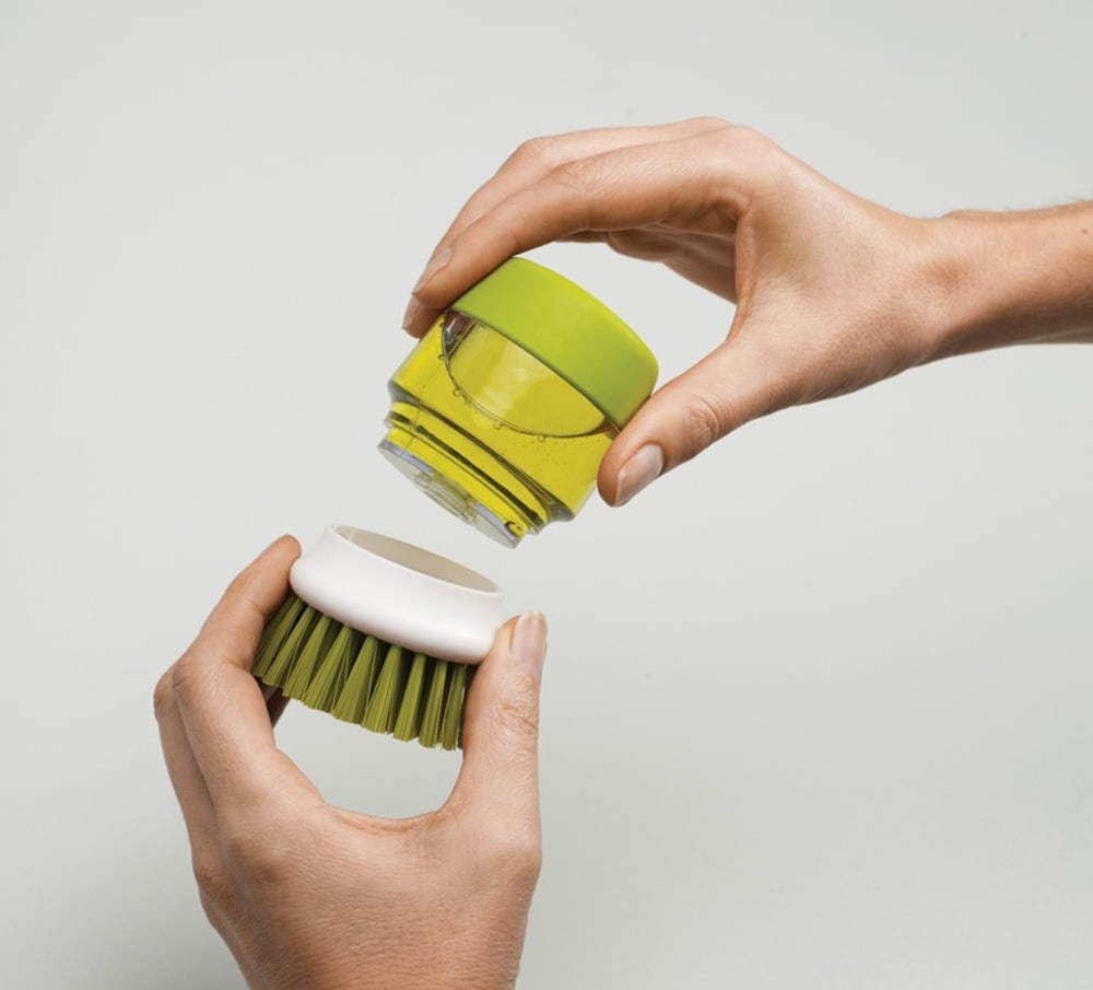 Szczotka do mycia naczyń z pompką zielona Joseph Joseph