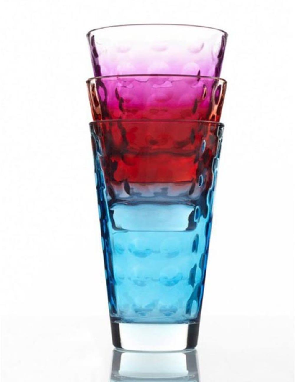 LO - Szklanka wysoka OPTIC niebieska 300 ml