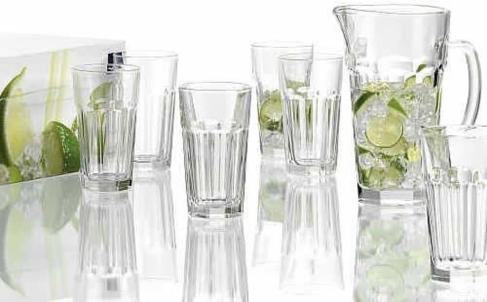 LO - Zestaw dzbanek do soku + 6 wys. szklanek Rock