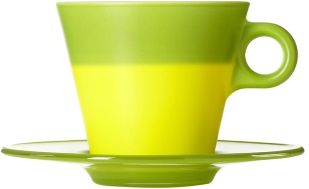 LO - Filiżanka + spodek zielona Ooh! Magico