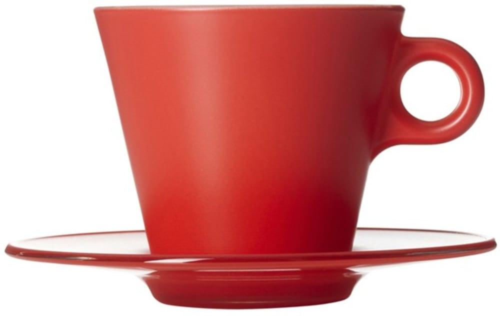 LO - Filiżanka + spodek czerwona Ooh! Magico