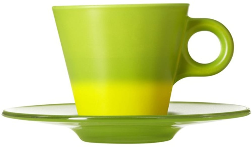 LO - Filiżanka espresso+spodek zielona Ooh! Magico