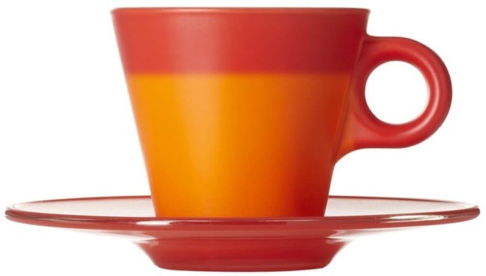 LO - Filiżanka espresso+spodek czerwona Ooh!Magico