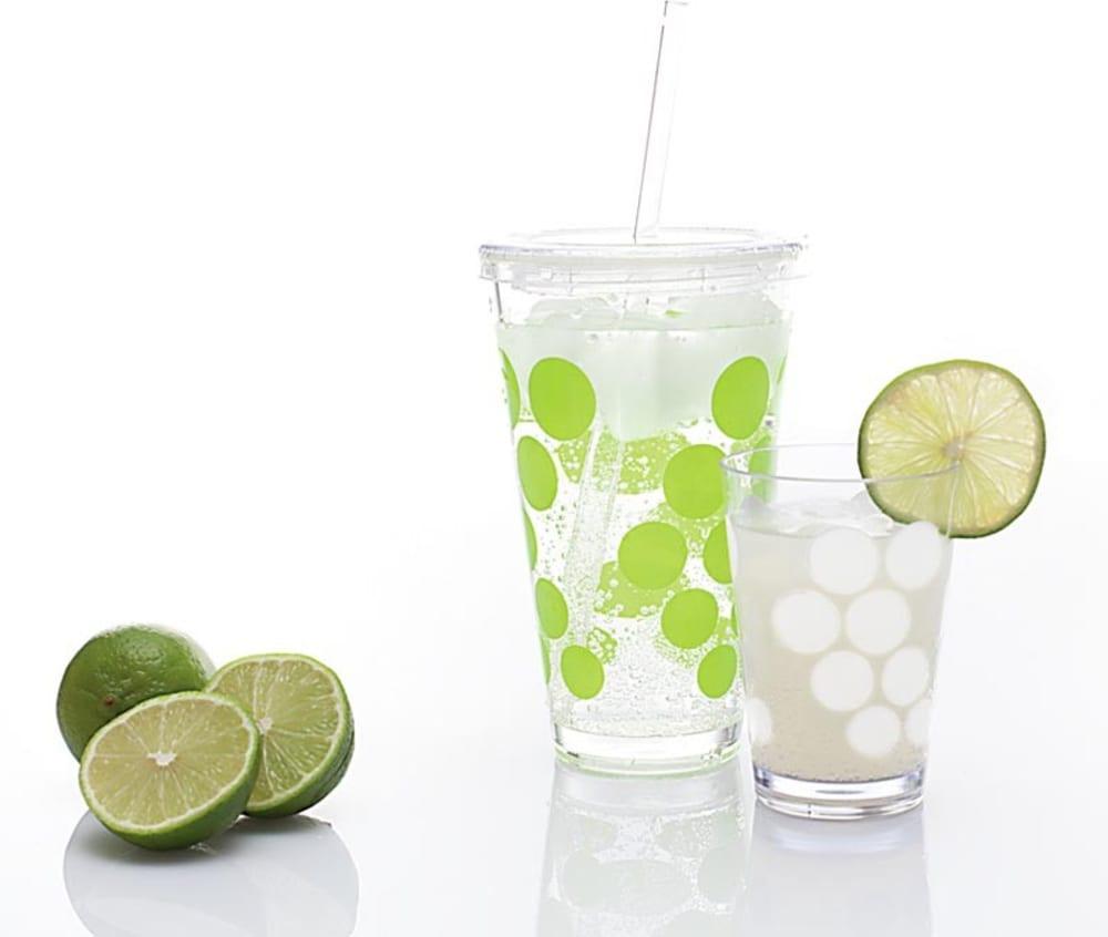 Zak! - Chiller + słomka, biało - zielony