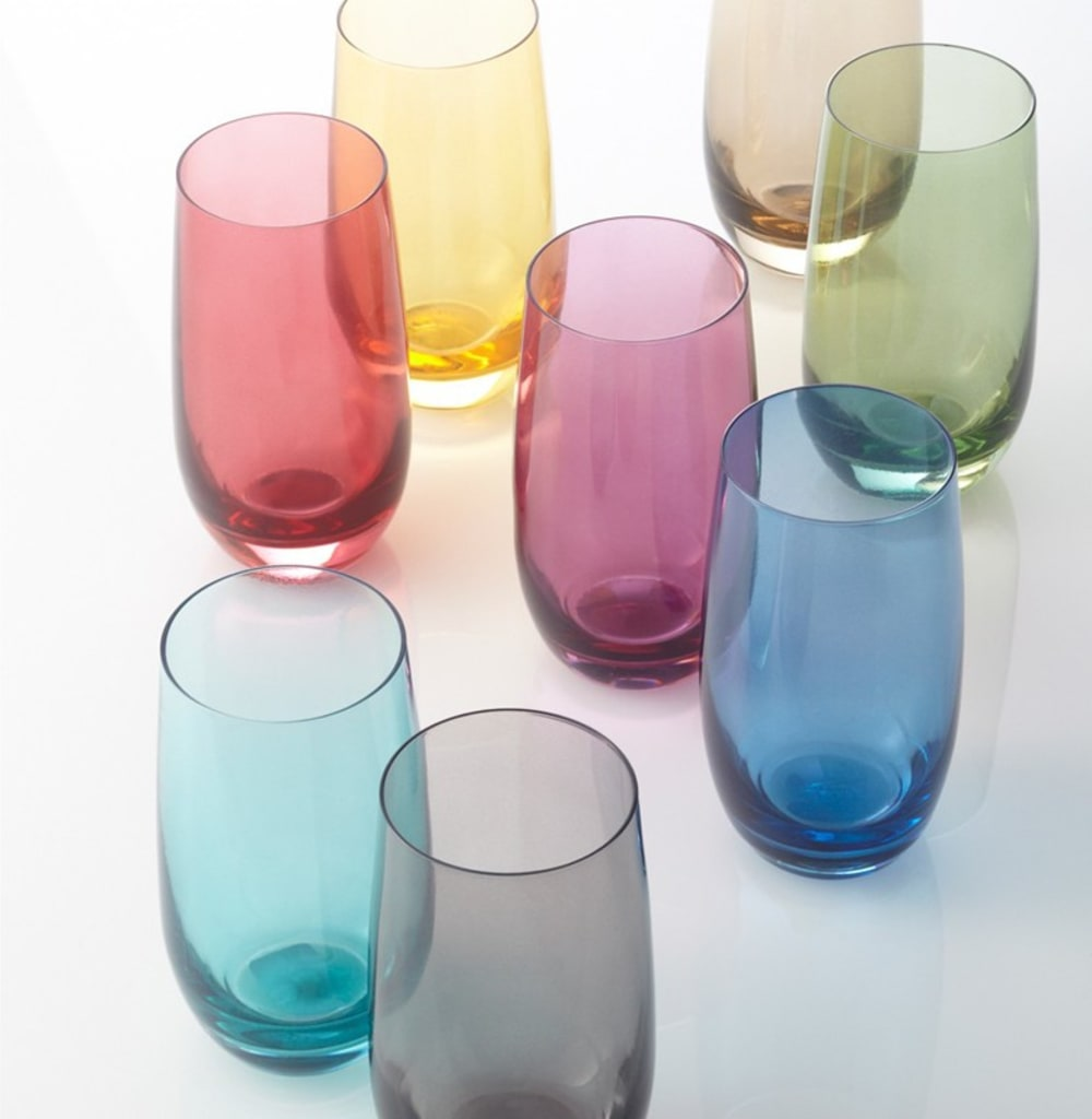 LO - Szklanka 390 ml, żółta, COLORI
