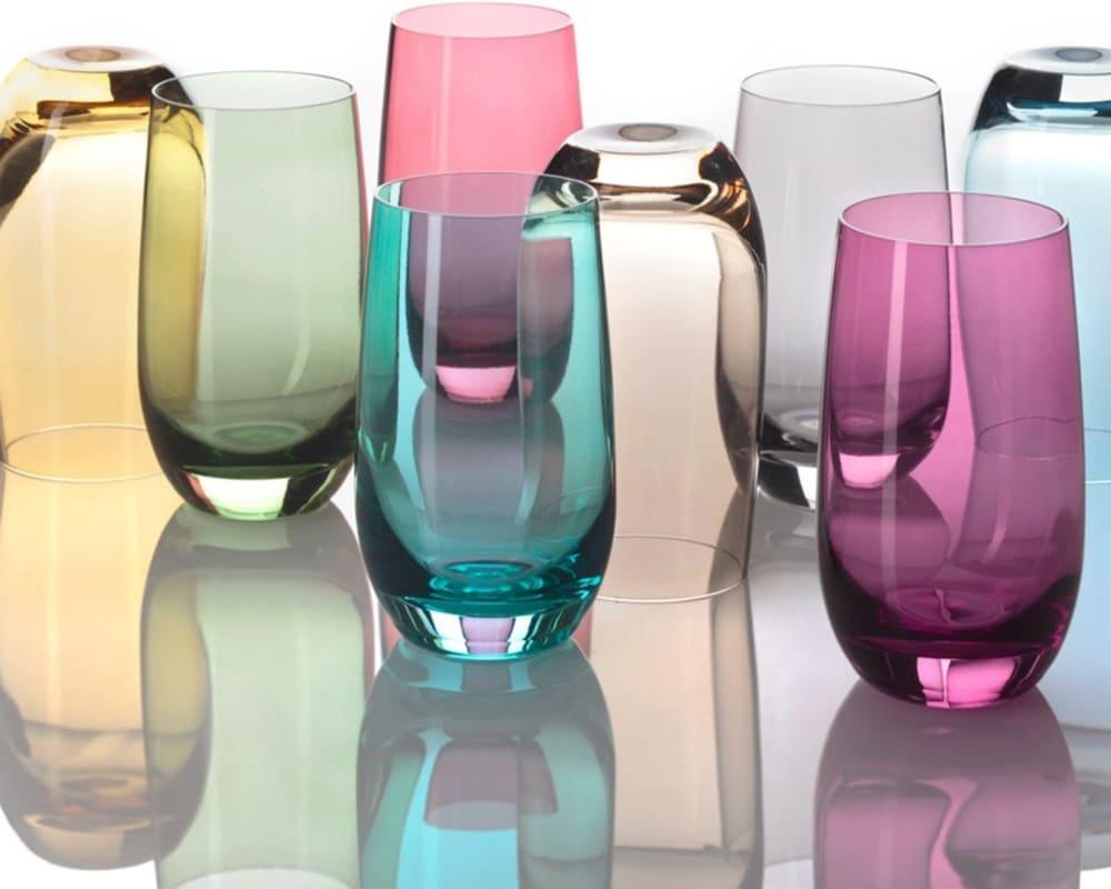 LO - Szklanka 390 ml, brązowa, COLORI