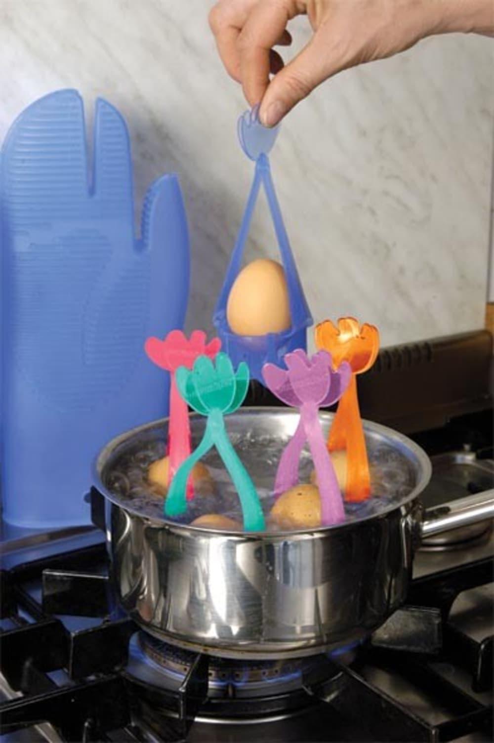 PAVONIDEA Koszyk do gotowania jaj pomarańczowy