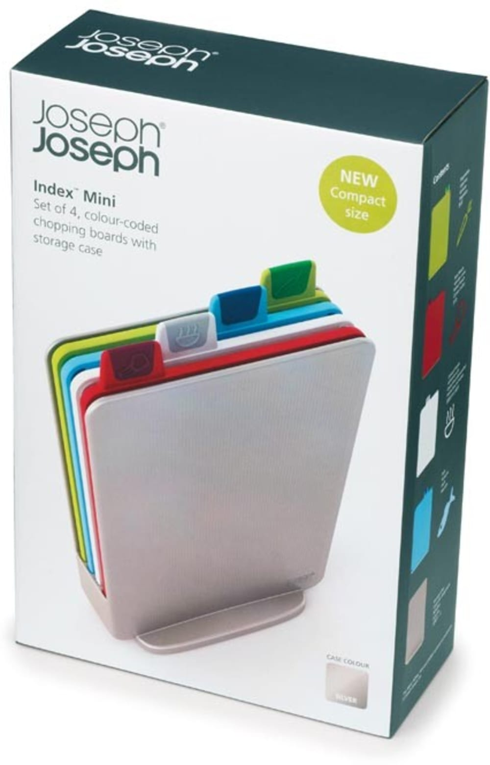 Zestaw 4 desek Index Mini srebrny Joseph Joseph