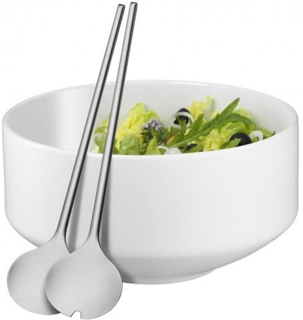 WMF - Zestaw do sałatek: miska+sztućce - biały