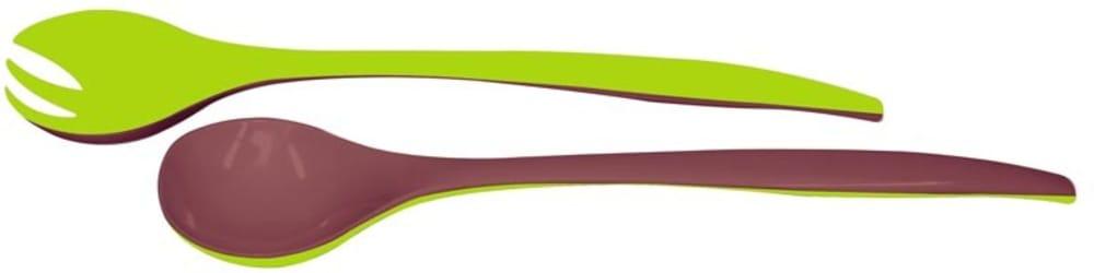Zak! - Sztućce do sałaty, kasztanowo-zielone