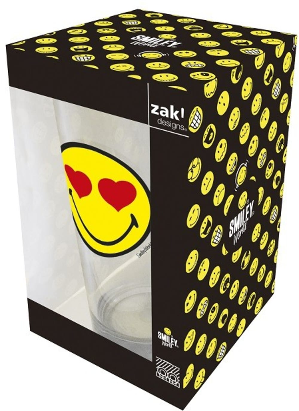 Zak! - Szklanka 300 ml, Love, Smiley