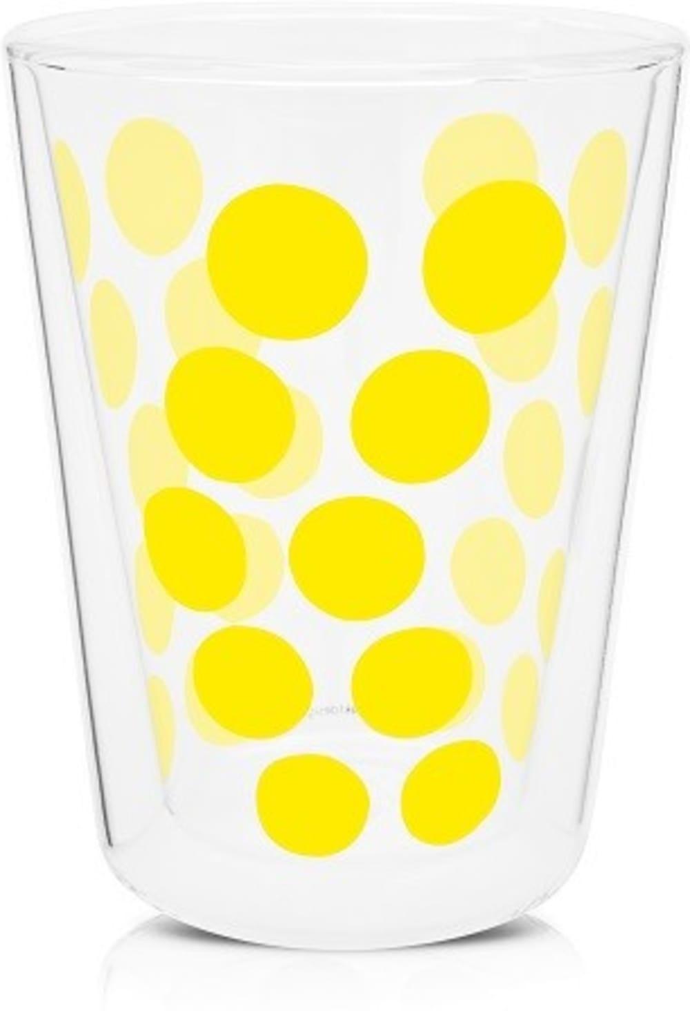 Zak! - Szklanka z podw. ściankami 350 ml, żółta