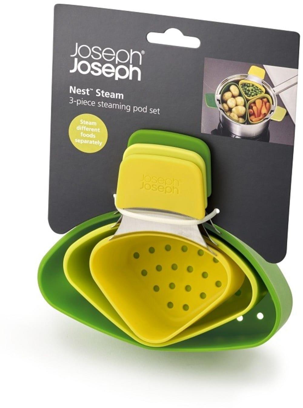 Trzy częściowy zestaw do gotowania na parze Nest Joseph Joseph