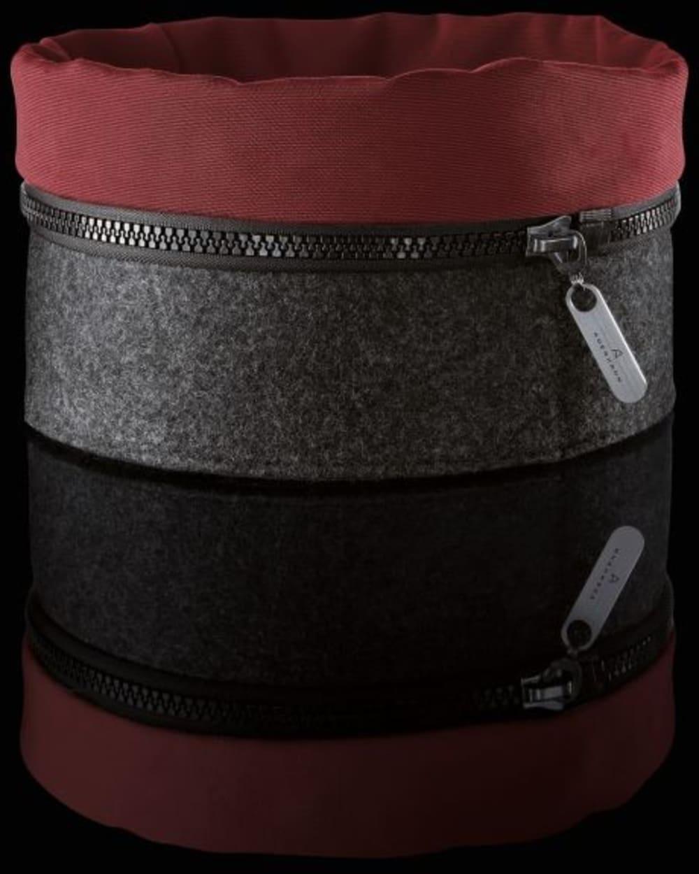 Auerhahn - Filcowy koszyk ZIPP, czerwony, bez opak