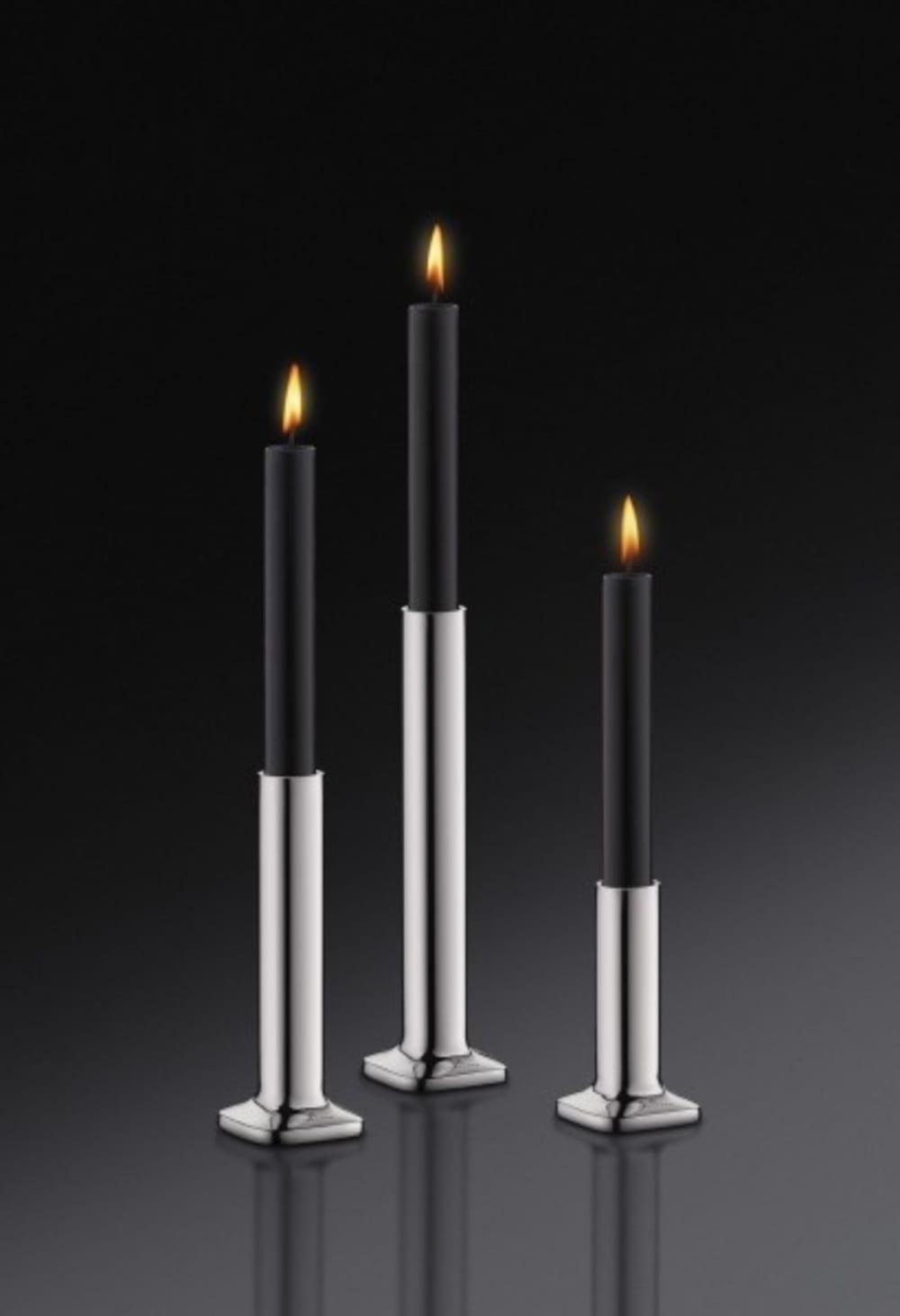 Auerhahn-Świecznik+świeca czarna poł.H 20,bez opak